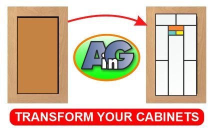 transform your cabinets with glass inserts