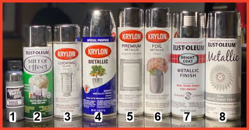 Silver Spray cans we tested