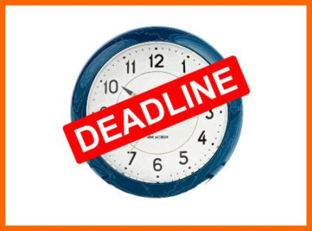 Give yourself a deadline