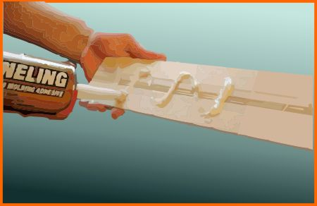 Gluing the molding