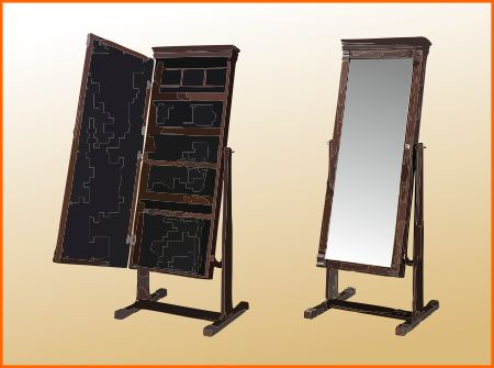 Cheval mirror comes with storage