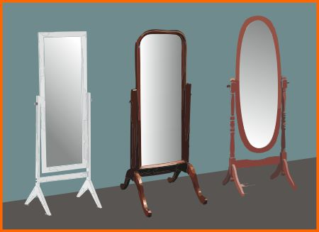Cheval-style dressing mirrors