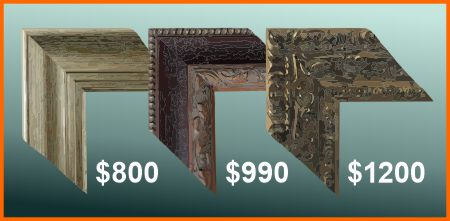 """Typical prices for a 60"""" * 32"""" rectangular frame"""