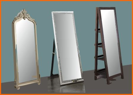 Leaning or easel mirrors