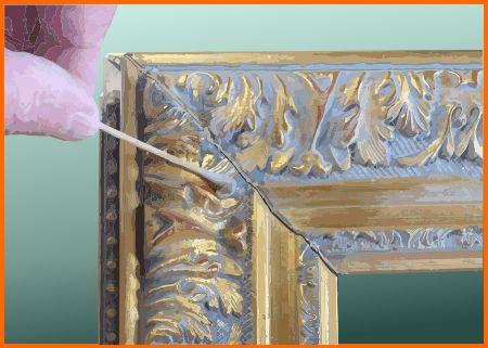 Clean mirror frame