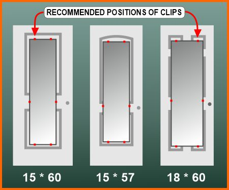 Mirror sizes & clip positions