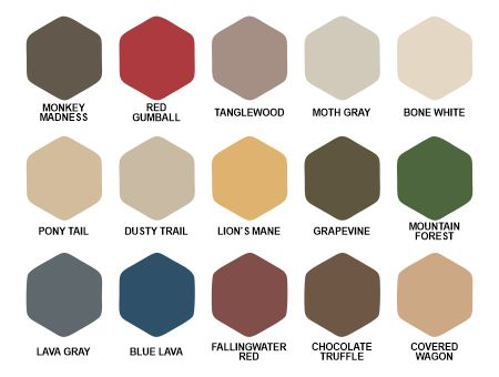 Palette of colors for Fallingwater