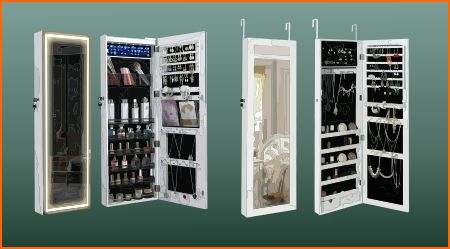 Mirrored armoires for closet doors