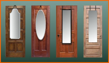 Mirrors on solid wood doors